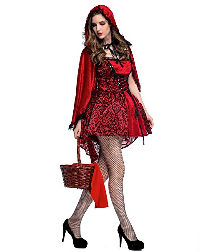 Women's Little Red Riding Hood Halloween Cloak