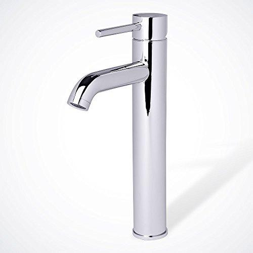 Euro Style Modern Vanity - Euro Modern Contemporary Bathroom Lavatory Vanity Vessel Sink Faucet, Chrome