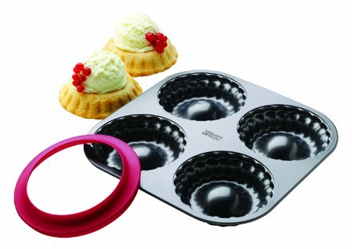 Chicago Metallic 26726 4 Count Individual Pie Bowl Set with Dough Cutter by CHICAGO METALLIC