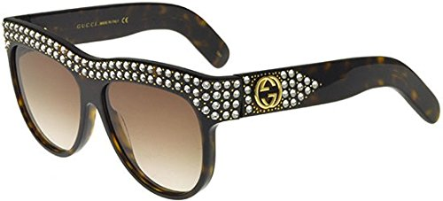 Gucci GG 0147 S- 002 HAVANA / BROWN Sunglasses