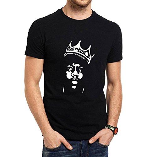 Loo Show Mens Biggie Smalls Notorious B.I.G. Crown Short Sleeve T-Shirts Men -