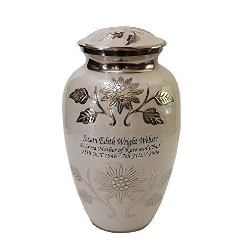 Adult Cremation URN, Solid Brass Cremation URNS, Funeral URN with Personalization