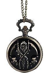"WZC Retro Quartz ""Death"" Pocket Watch with Chain"