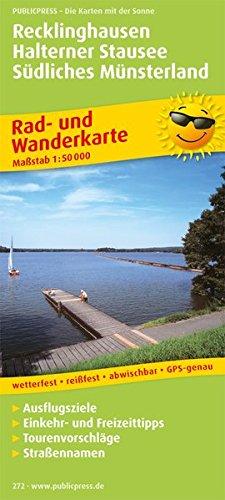Recklinghausen - Halterner Stausee - Südliches Münsterland: Rad- und Wanderkarte mit Ausflugszielen, Einkehr- & Freizeittipps, wetterfest, reissfest, ... 1:50000 (Rad- und Wanderkarte / RuWK)