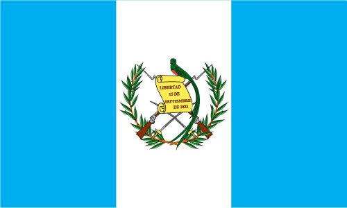 Shoe String King SSK Guatemala Outdoor Flag - Large 3' x 5', Weather-Resistant Polyester