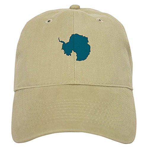 (CafePress Antarctica Flag Map Cap Baseball Cap with Adjustable Closure, Unique Printed Baseball Hat Khaki)