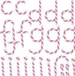 Doodlebug Designs Cardstock Alphabet Stickers - Doodlebug Design - Alphabet Cardstock Stickers - Doodle Twine - Bubblegum