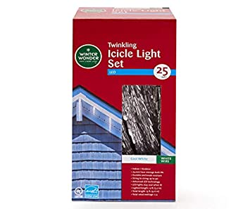 Amazon Com Winter Wonder Led Icicle Light Set 25