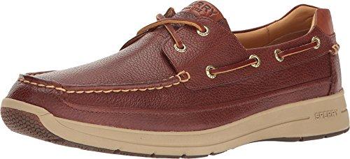 SPERRY Men's, Gold Ultralite ASV Boat Shoes Cognac 9.5 - Eye Moc 2