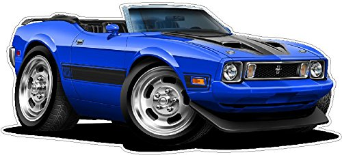 1973 Mach 1 WALL DECAL Vintage 3D Car Movable Stickers Vinyl Wall Stickers for Kids Room