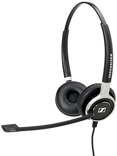 Sennheiser SC 660 USB CTRL (504555) – Double-Sided Business Headset | For Unified Communications | with HD Sound, Ultra Noise-Cancelling Microphone, & USB Connector (Black)