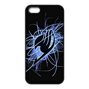 iPhone 5S case - [Fairy Tail Series] case for Apple iPhone 5 5S case rubber TPU cover case (Black/white)