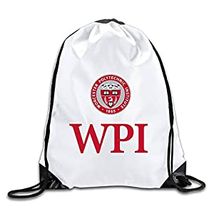 Hunson - Fashion Worcester WPI Logo Polytechnic Institute Sport Bag Drawstring Sling Backpack For Men & Women Sackpack