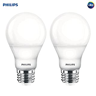 Philips LED Dimmable A19 Soft White Light Bulb with Warm Glow Effect: 800-Lumen, 2700-2200-Kelvin, 6.5-Watt (60-Watt Equivalent), E26 Base, Frosted, 2-Pack (Old Generation) (B00TZ904Q2) | Amazon price tracker / tracking, Amazon price history charts, Amazon price watches, Amazon price drop alerts