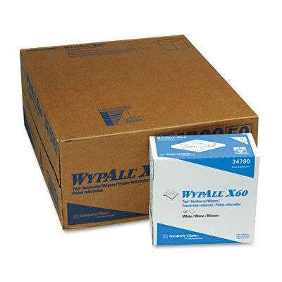 (WYPALL X60 Teri Wipes, Nylon, 9-1/8 x 16-7/8, 126/bx, 10/carton)