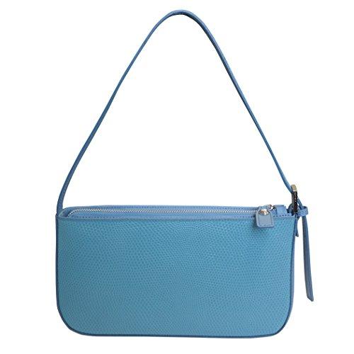 Petite Mujeres De Nicoli Hombro Bolso 'eleganza' Cuero Las Diseñador Italiano Azul Del xtT7xq