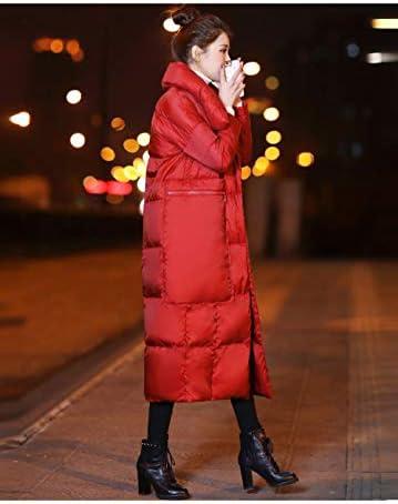 ZYJANO Piumino,Nuovi Prodotti Lungo TrattoIspessimento Grande Piumino Invernale Tascabile da Donna, Rosso, 7XL