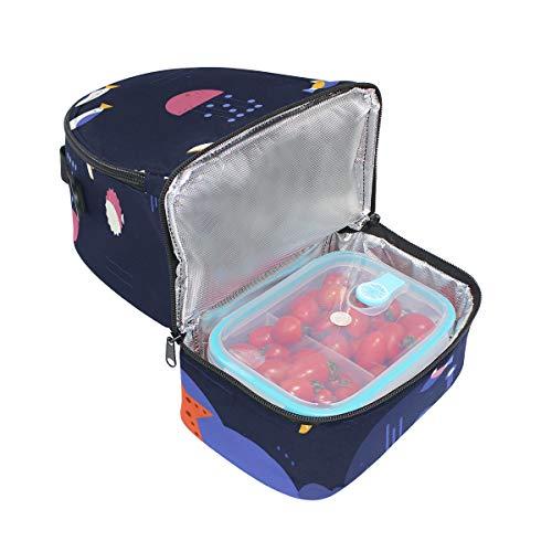 pour l'école Poisson lunch isotherme méduses Ocean Pincnic Boîte Alinlo avec Starifsh à Cooler à bandoulière réglable Tote Sac 68RwdnTq