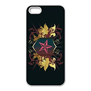 Black Star Badge Custom Protective Hard Phone Cae For Iphone 5s