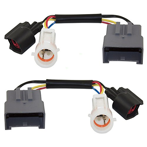 Set Tow Mirror Upgrade Adapters Harness Connectors w/Power Heat Replacement for Ford Excursion Super Duty Pickup Truck 1C3Z 14A411 AA Power Mirror Set