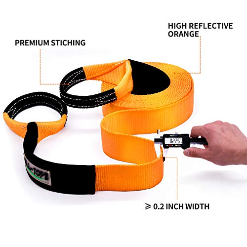 4 x 20 ALL-TOP Extreme Duty Nylon Recovery Strap 100/% Nylon and 22/% Elongation 42,500 lbs Towing Snatch Strap