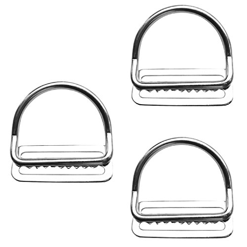 MagiDeal 3 Pieces / Set Scuba Dive 316 Stainless Steel Keeper Clip & Bent D Ring for 5cm/2'' Weight Belt by MagiDeal