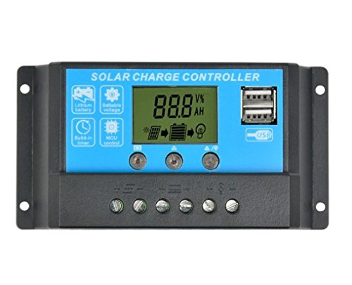unbrand Flexible Solar Panel Controller 12V24V15A Painel Solar Battery Charger Regulator Switching Controller LCD Displyer