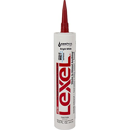 SASHCO 13080 Lexel Synthetic Rubber, 105 oz, White, Voc