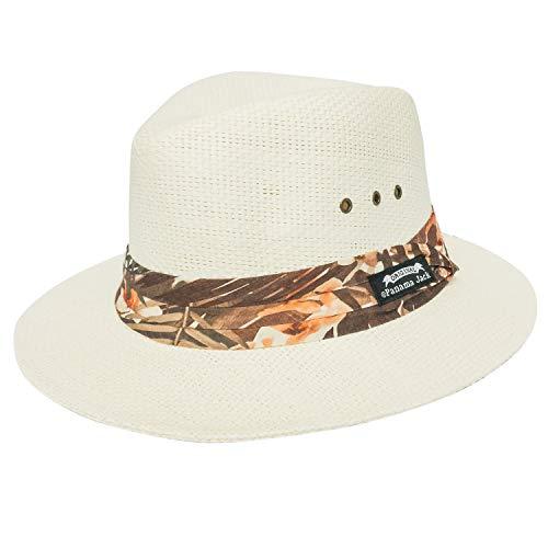 Panama Jack Men's Matte Toyo Safari Hat PJ173-ASST (X-Large, Brown Tropical Ivory) ()