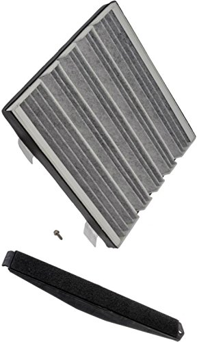 Price comparison product image APDTY 112723 Cabin Air Filter Add-On Kit (Carbon Activated Charcoal Filter,  Cover & Screws) 2007-2013 Escalade / Avalanche / Silverado / Suburban / Tahoe / Sierra / Denali / Yukon 23101674,  22759208