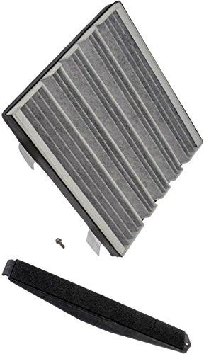 Esv Activated Carbon (APDTY 112723 Cabin Air Filter Add-On Kit (Carbon Activated Charcoal Filter, Cover & Screws) 2007-2013 Escalade / Avalanche / Silverado / Suburban / Tahoe / Sierra / Denali / Yukon 23101674, 22759208)