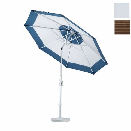 Olefin Terrace - California Umbrella GSCU908302-FD10 9 ft. Aluminum Market Umbrella Collar Tilt - Matted Black-Olefin-Terrace Sequoia