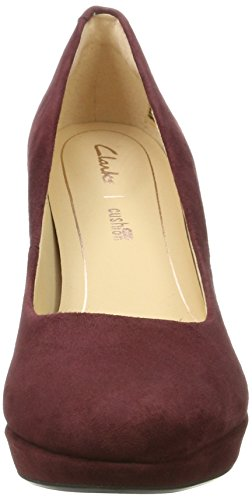 Suede Kendra Tacón Morado Burgundy para Sienna de Mujer Zapatos Clarks Hwdqz77