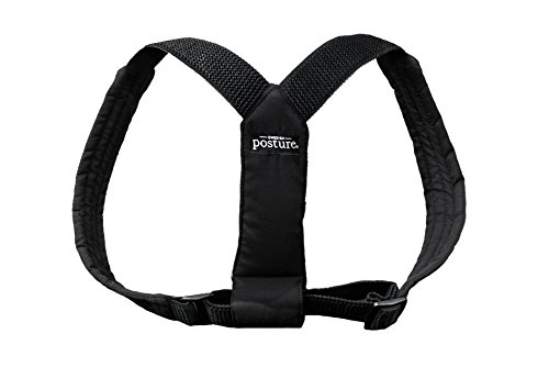 Swedish Posture Classic Brace Shoulders and Upper Back Pain Relief ((Female L-XL / Male - L), Black) by Swedish Posture