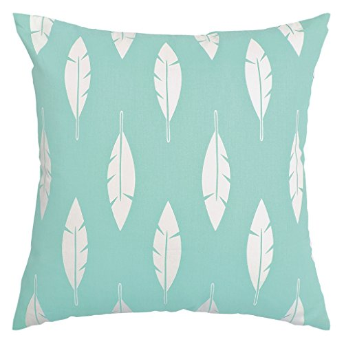 light blue and white throw pillow - 4