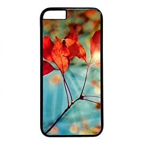 """Autumn Leaf Theme Case for IPhone 6(4.7"""") PC Material Black"""