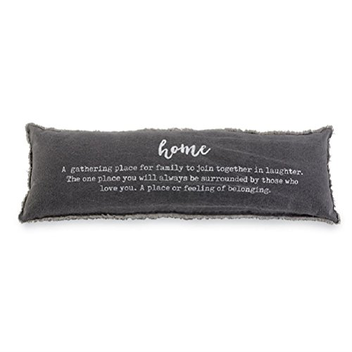 Mud Pie Home Definition Lumbar Decorative Accent Pillow, One Size, Gray (Pillows Pie Mud Christmas)