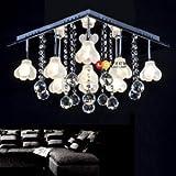 Crystal Ceiling Lights Living Room Bedroom Pendant Lights Review