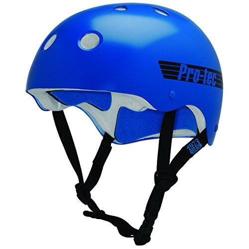 PROTEC Original Classic Helmet, Gloss Blue Retro, Large by PROTEC Original