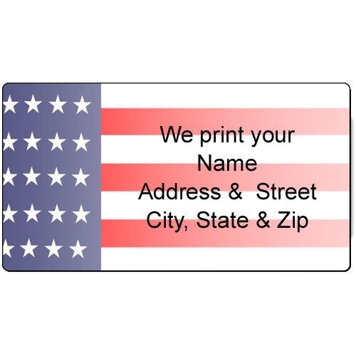 American Flag Address Label - Customized Return Address Label - 90 USA Flag Labels