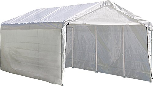 ShelterLogic SuperMax 2-in-1 Canopy with Enclosure Kit, White, 10 x 20 (White Canopy Enclosure Kit)