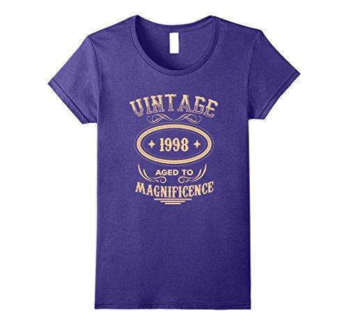 Womens Vintage 1998 T-Shirt - Funny 20th Birthday Tee Medium Purple