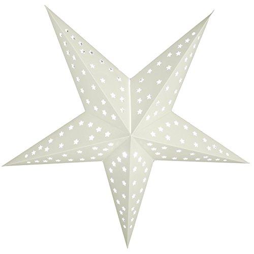 Paperlanternstore Com 24 Quot Solid White Cut Out Paper Star