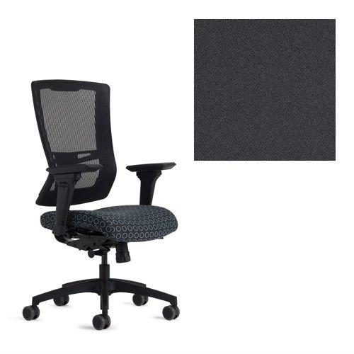 Office Master Affirm Collection AF508 Ergonomic High Back Chair - JR-49 Armrests - Black Mesh Back - Grade 1 Fabric - Celestial Rhea Gray 1201 PLUS Free Ergonomics eBook (Office Master Furniture)