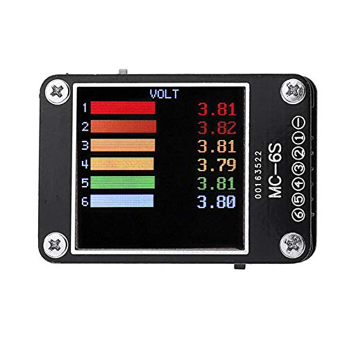 DishyKooker UR-UAV MC-6S 1-6S Lipo Battery Voltage Checker Receiver Signal Tester for Check S-Bus PPM PWM and DSM Satellites Receiver Quadcopter Drone RC Drones for Kids and Adults (Quadcopter Bus)