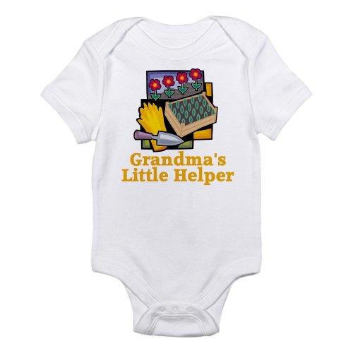 CafePress Grandma's Helper Gardening Infant Bodysuit - Cute Infant Bodysuit Baby (Gardeners Helper)