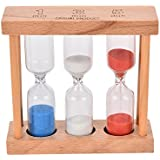 Sellify wood : 1/3/5 Minutes Wood Frame Sand Glass Hourglass Sand Timer Clock Sandglass for Home Table Tea Decoration Toys Xmas Birthday Gift