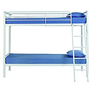 DHP Ambrose Twin over Twin Bunk Bed - White