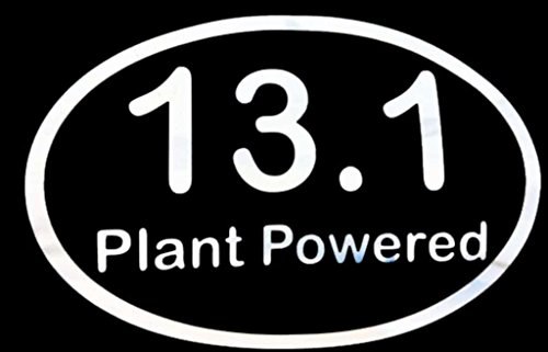 13.1 Plant Powered Decal Vinyl Sticker|Cars Trucks Vans Walls Laptop| White |5.5 x 3.5 in|LLI176