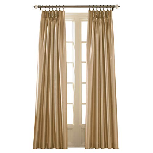"Curtainworks Marquee Curtain Panel, 30 by 120"", Sand (Champagne Beige)"